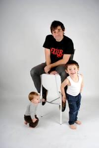 Papa y niños