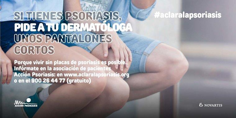 Pantalones cortos post psoriasis